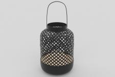 Lanterne H. 28 cm ZAYA Noir