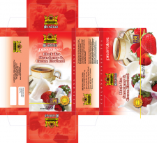 Упаковка для чая клубника с кремом