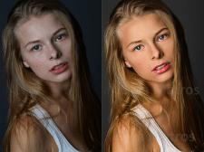 Портретная фото ретушь