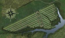 Отрисовка генплана коттеджного поселка