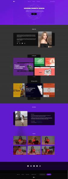 Веб-дизайн сайта дизайнера