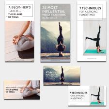 Баннеры для статей о йоге для Insta & FB