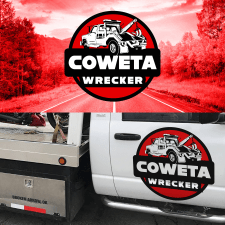 разработка лого Coweta Wrecker