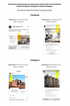 Таргетинг для агентства недвижимости FВ, Instagram