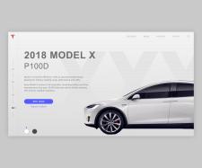 Tesla landing page concept