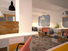 Визуализация дизайна офисного помещения