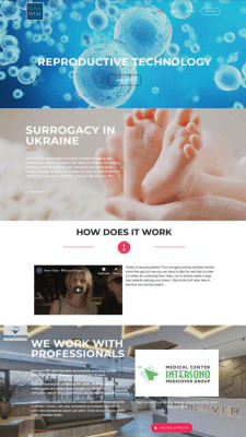 Сайт для Медицинской компании ''Novo Vitae''
