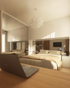 Современный теплый дизайн небольшого дома на двоих