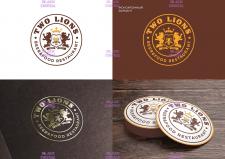 Логотип для ресторана-бара Two Lions
