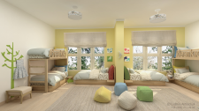 Частный детский сад. Спальня