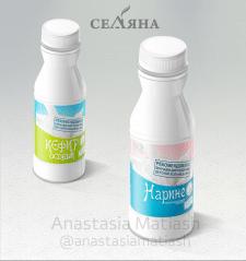Дизайн этикеток молочной продукции