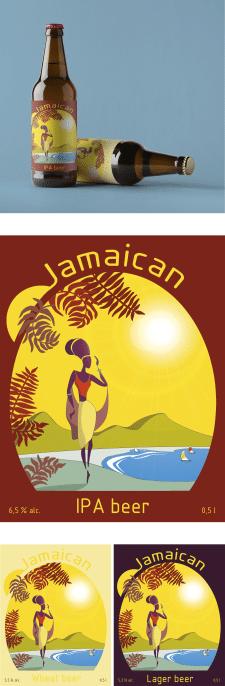Этикетка для ямайской пивоварни