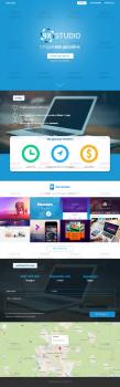 Дизайн Landing page для веб-студии 9X Studio