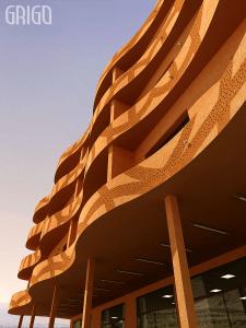 Фрагмент офисного здания в Марокко