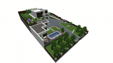 3d визуализация участка с перепадами высот