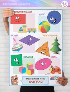 """Информационный плакат """"Фигуры"""""""