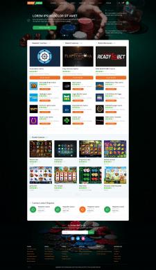 Дизайна каталога казино на темном фоне