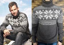 Вязаный свитер hand made