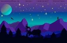 """Иллюстрация """"Ночь в горах"""""""