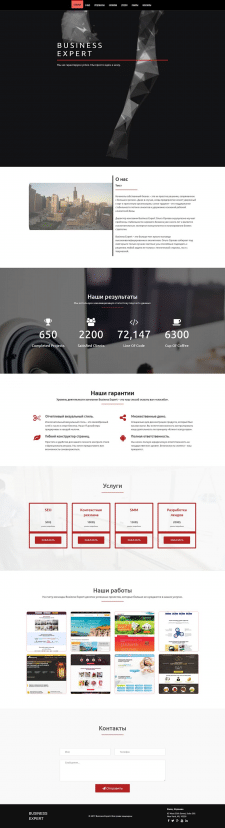 Landing Page BUSINESS Expert