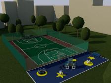 Спорт площадка + детская