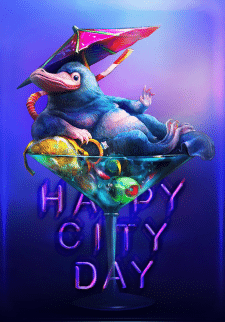 Poster Happy City Day