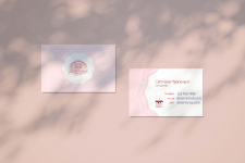 Business card for sweet shop