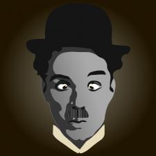 дизайн бар кода Чарли Чаплин