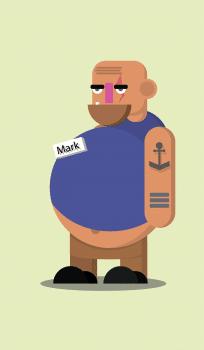 """Грузчик """"Марк"""" для анимации"""