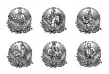 Иллюстрации для тиснения на металле.