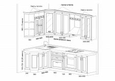 Чертеж кухни - Вариант 2