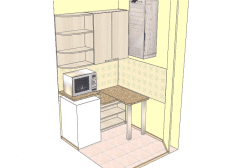 Схема размещения мебели в кухне салона красоты
