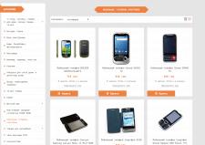 Наполнение магазина товаром (мобильные телефоны)