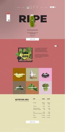 Ре-дизайн магазина здорового питания