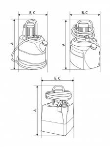 Схематическая иллюстрация, чертеж насосов.