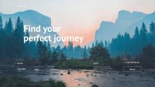 Главная страница для туристической фирмы