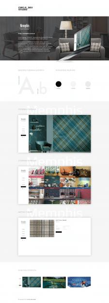 Сайт для салона интерьера Memphis