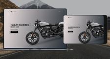 Лендинг |  Модель Harley Davidson Iron 833.