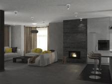 Дизайн загородного дома с камином