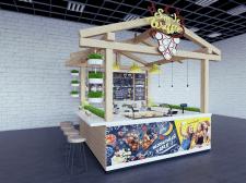 Торговая точка в ТЦ по продаже вафлей и кофе