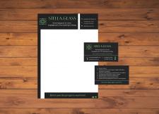 Дизайн бланка и визитки для компании Stella-Glass