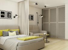 Визуализация однокомнатной квартиры