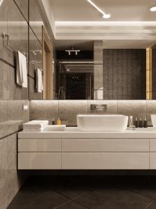 Дизайн ванной комнаты для частного дома.