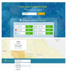 Food packs Availability Maps