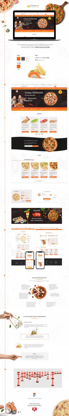 Сайт по Доставке еды UX/UI