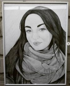 Портрет на форматі А3 + рамка та скло
