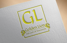 Логотип для ресторана Golden Lion