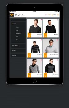 Концепт iPad приложения по продаже одежды