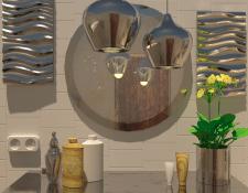 Интерьер квартиры-студии (Ванная)
