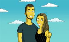 Портрет в стиле Симпсонов